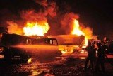 16 NATO supply trucks set ablaze by Talibans in Pakistan