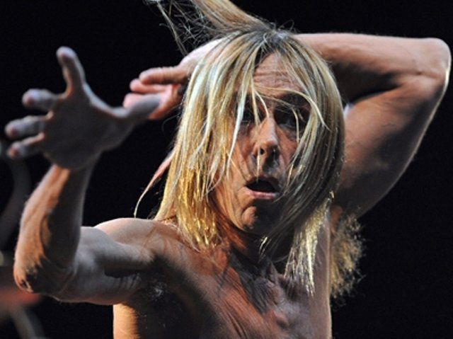 "Iggy Pop performing ""Real Wild Child"" at Peninsula Festival 2011 in Targu Mures, Romania. (photo City News)"