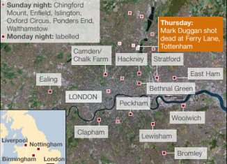 London riots mapping.