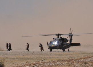Helicopter in Aghanistan