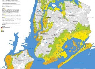 New York City hurricane evacuation zones.