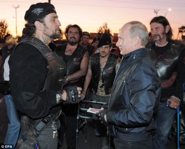"""Night Wolves"" club leader is Alexander Zaldostanov, nicknamed ""Surgeon"", one of Vladimir Putin's friends"