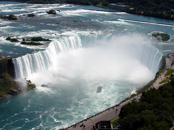 Police warned tourists Monday not to climb a railing at the top of Niagara Falls after an international student from Japan fell off the edge and was swept over the falls on the weekend
