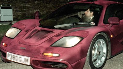 Rowan Atkinson car before accident