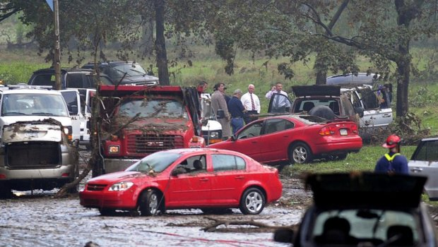 Severe storms hit Pittsburgh on Friday submerging cars and cutting