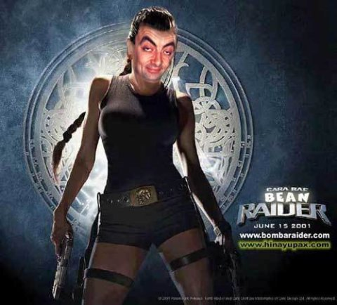 Mr Bean Tomb Raider