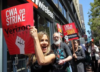 New York: Verizon strike