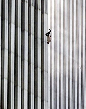 9 11Falling Man the iconic picture of falling bodies at WTC photo