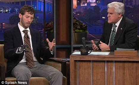 Aron Ralston telling about his amazing climbing accident at the Tonight Show