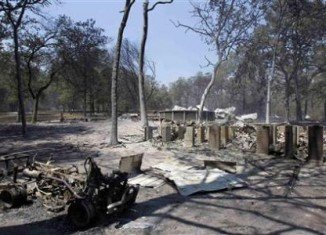 Bastrop Texas: The ruins of a house destroyed by wildfire (Reuters)