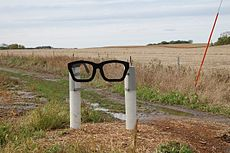 Memorial to Buddy Holly near Clear Lake Iowa