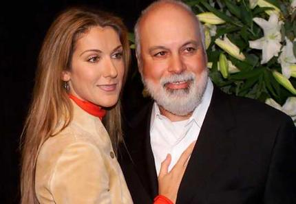 Celine Dion and her husband Rene Angelil