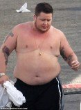 Chaz Bono was caught topless as he was making a wardrobe change ahead of tonight live show