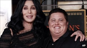 """Cher has criticized the """"stupid bigots"""" who have attacked the casting of her transgender son on US show Dancing With The Stars"""