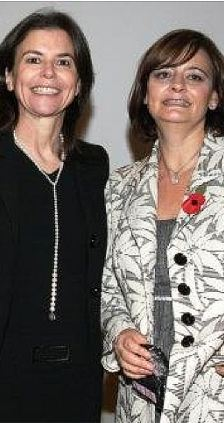 Cherie Blair, Tony Blair's wife has been warned by the Israeli press about husband's relationship with the controversial Ofra Strauss (left)