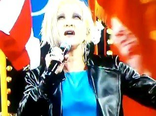 Cyndi Lauper singing US national anthem at US Open 9/11 commemoration