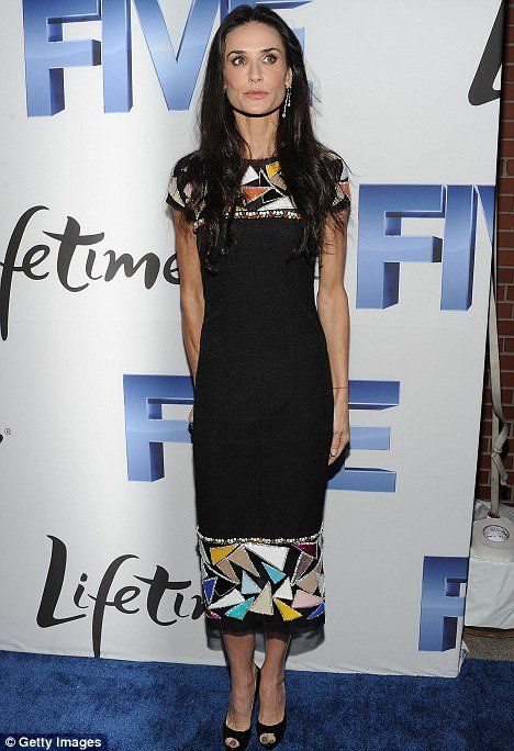 Demi Moore looked a shadow of her former self at the premiere of Lifetime movie Five in New York last night