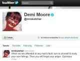 Demi Moore posted this message on Twitter the night before spen