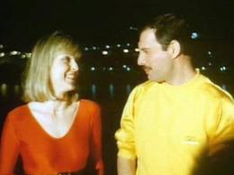 Freddie Mercury with Mary Austin, his only true friend