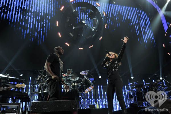 Jay-Z and Alicia Keys at iHeartRadio Music Festival