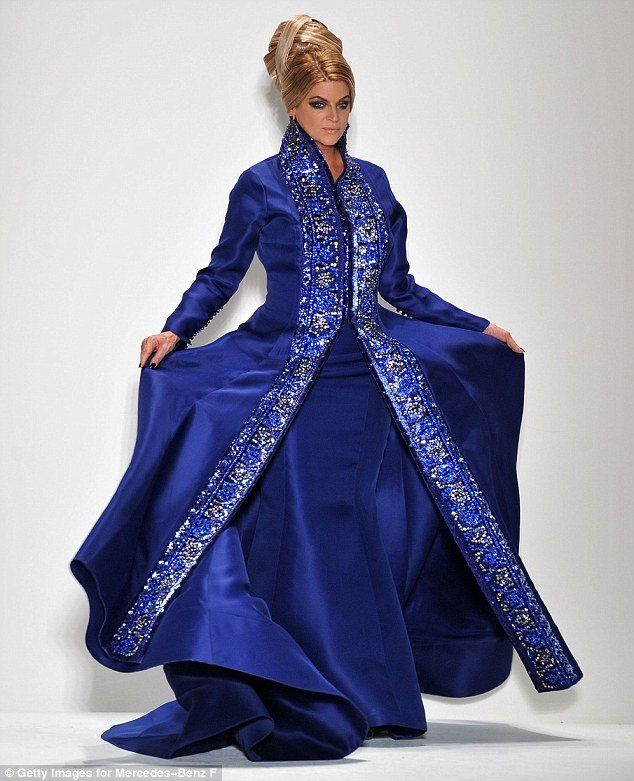 Kirstie Alley took to the runway for Malaysian designer Zang Toi at New York Fashion Week