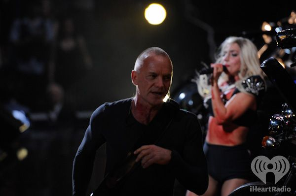 Lady Gaga and Sting at iHeartRadio Music Festival