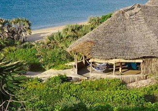 One of the Kiwayu Safari Village's exclusive bungalows, where David Tebbutt was killed and Judith Tebbutt kidnapped