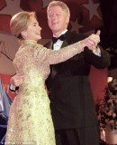 President Bill Clinton and First Lady Hillary Clinton dance at his inaugural ball in Washington, D.C. on January 20, 1993