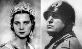 Queen Marie-José and Benito Mussolini