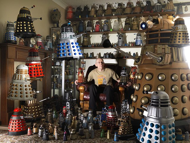 Rob Hull from Doncaster, UK, is in the 2012 edition of Guinness Book of World Records for having 571 Daleks
