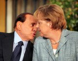Silvio Berlusconi is accused of making insulting comments about Angela Merkel during a telephone conversation with a newspaper editor