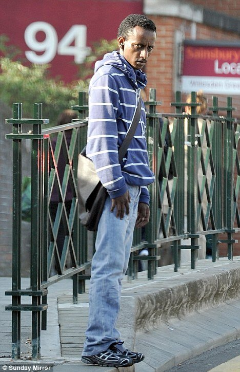 Siraj Yassin Abdullah Ali walking free on London streets.