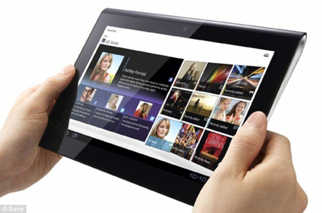 Sony Tablet S, a more conventional tablet computer