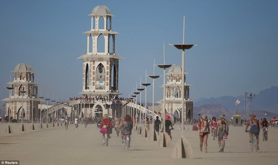 Temple of Transition during Burning Man 2011 on Friday