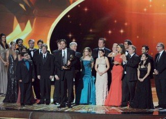 The cast and crew of Modern Family at Emmy Awards 2011