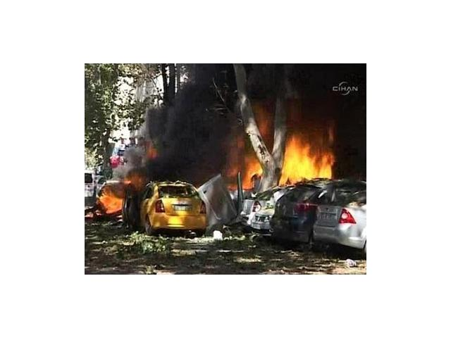 The explosion killed three people, injured at least other 15 and set several vehicles on fire in Ankara