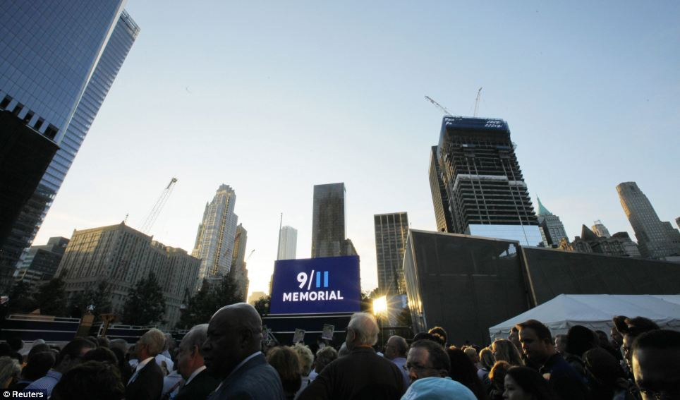 Thousands of family members of the victims killed in New York on September 11 gathered this morning at Ground Zero for 10th anniversary from the terror attacks photo
