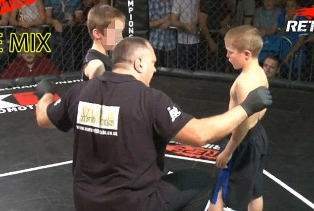 Unlike adult contestants, the little boys are not, in theory, allowed to punch, kick, knee or elbow each other during the competitions, but the rules are inevitably broken