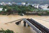 Wakayama, an iron bridge over the Nachi River in Nachikatsuura town