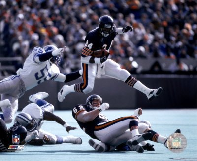 Walter Payton caught 492 passes for 4,538 yards and 15 touchdowns and set team records, most career rushing yards, receptions, touchdowns.