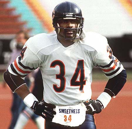 Walter Payton rushed for 16,726 yards and scored 110 touchdowns.