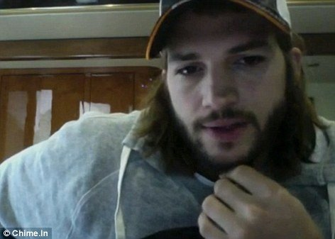 """The status of truth"", the video Ashton Kutcher has posted on Chime.In shows him not wearing his wedding ring and making a plea for greater ""honesty"" in the press"