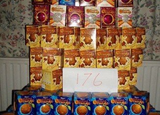 A shopper, who have took advantage of the glitch at Tesco, bought 176 boxes of Terry's Chocolate Orange and posted the photo on internet
