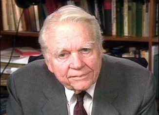 Andy Rooney was hospitalized yesterday after suffering serious complications following surgery