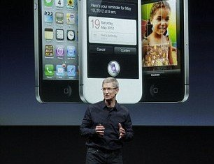 Apple CEO Tim Cook unveils the iPhone 4S - but apart from the voice-control functions, the phone does not offer a huge amount that's new