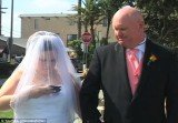 As the preacher talks of the sanctity of marriage and God's love, the bride furiously sends a text message