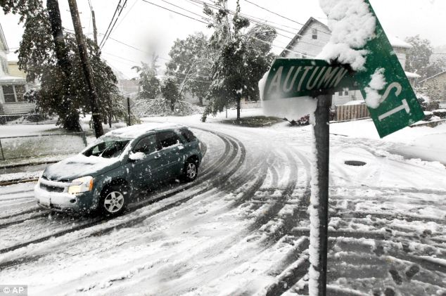 Autumn Street in Lodi, New Jersey, where Governor Chris Christie called a state of emergency after the October snowstorm