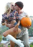 Courtney Stodden and her husband, actor Doug Hutchinson were asked to leave a pumpkin patch due to their inappropriate behaviour