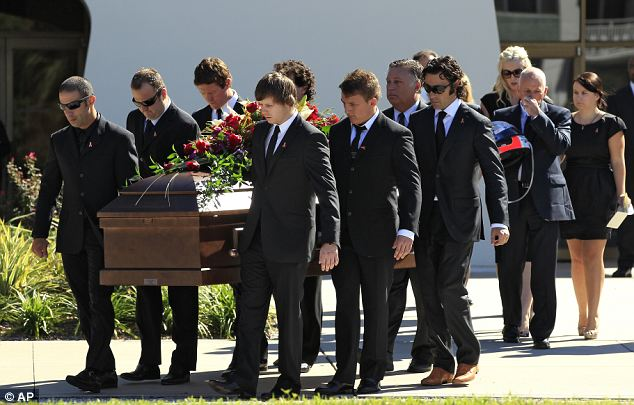 Dan Wheldon's funeral took place today at First Presbyterian Church in St Petersburg