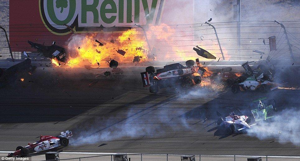 Dan Wheldon Indycar Champion Dies In A Massive Crash At